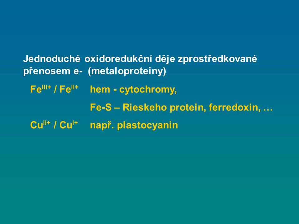 Jednoduché oxidoredukční děje zprostředkované