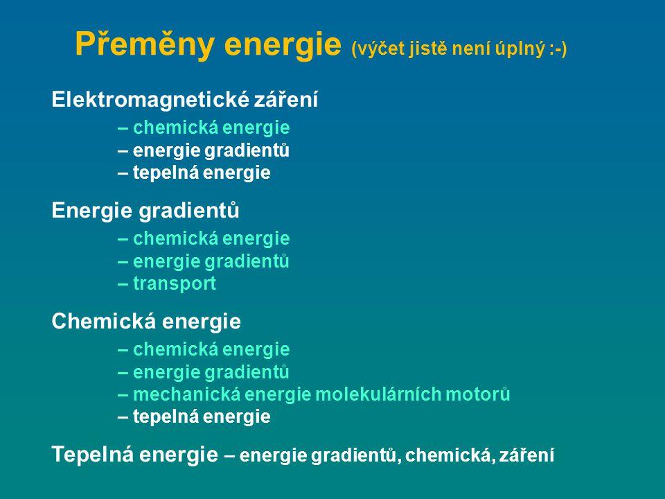 Přeměny energie (výčet jistě není úplný :-)