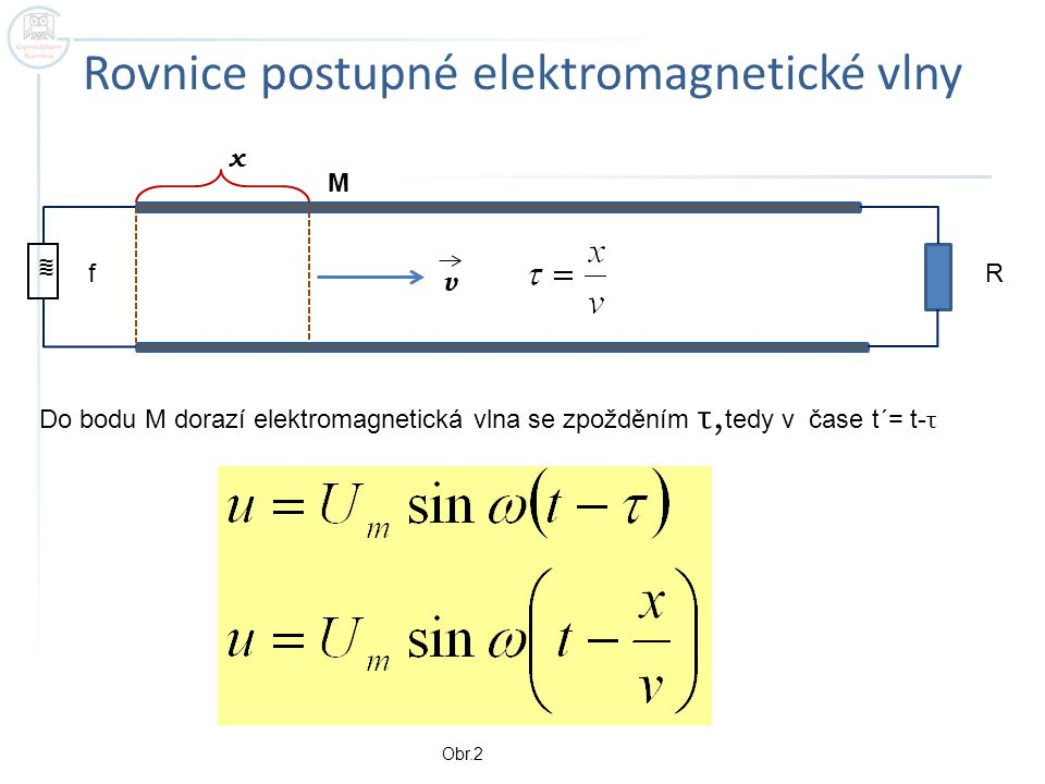 Rovnice postupné elektromagnetické vlny