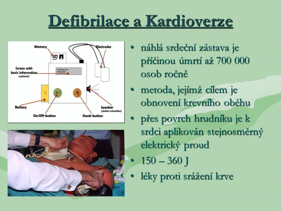 Defibrilace a Kardioverze