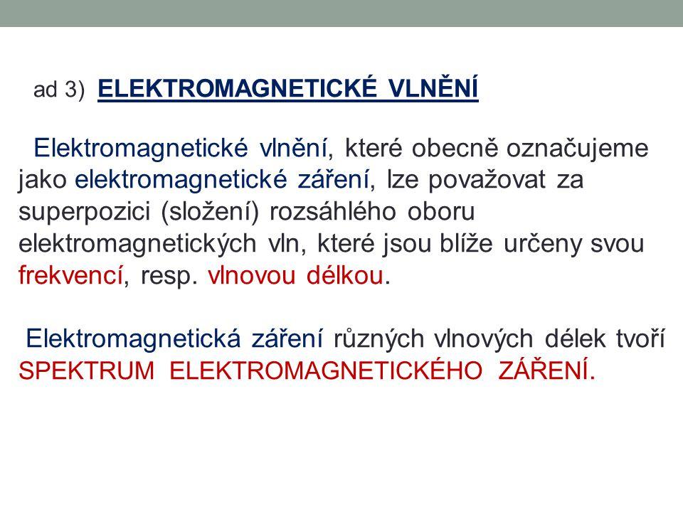 ad 3) ELEKTROMAGNETICKÉ VLNĚNÍ