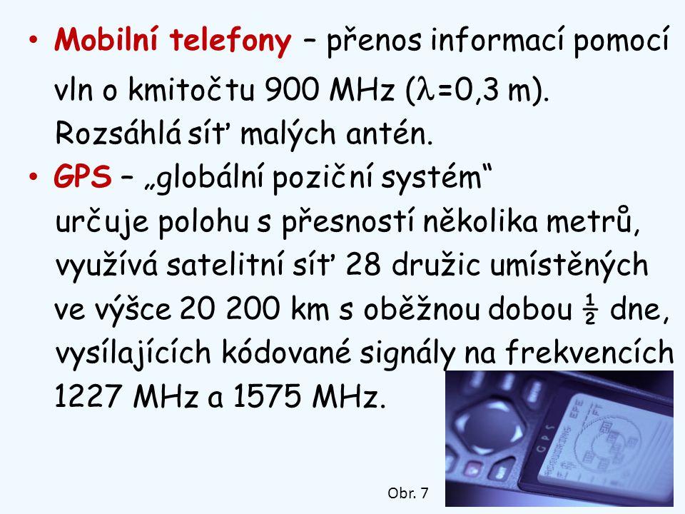 Mobilní telefony – přenos informací pomocí