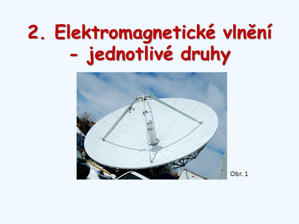 2. Elektromagnetické vlnění - jednotlivé druhy