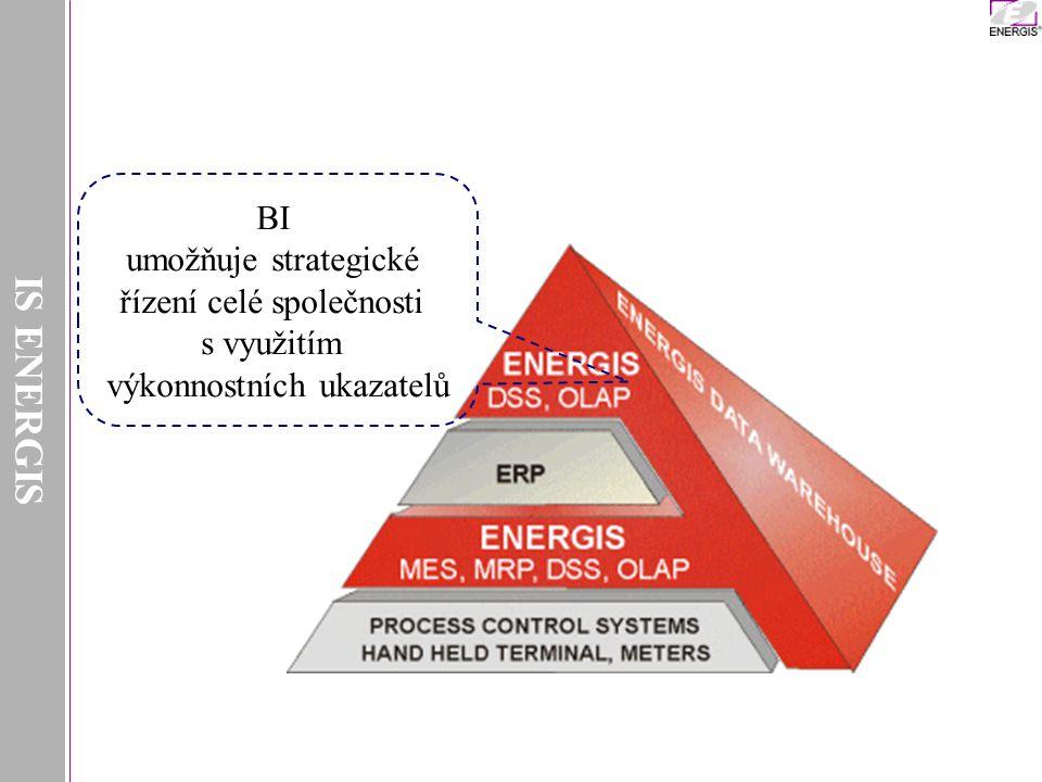 IS ENERGIS BI umožňuje strategické řízení celé společnosti s využitím