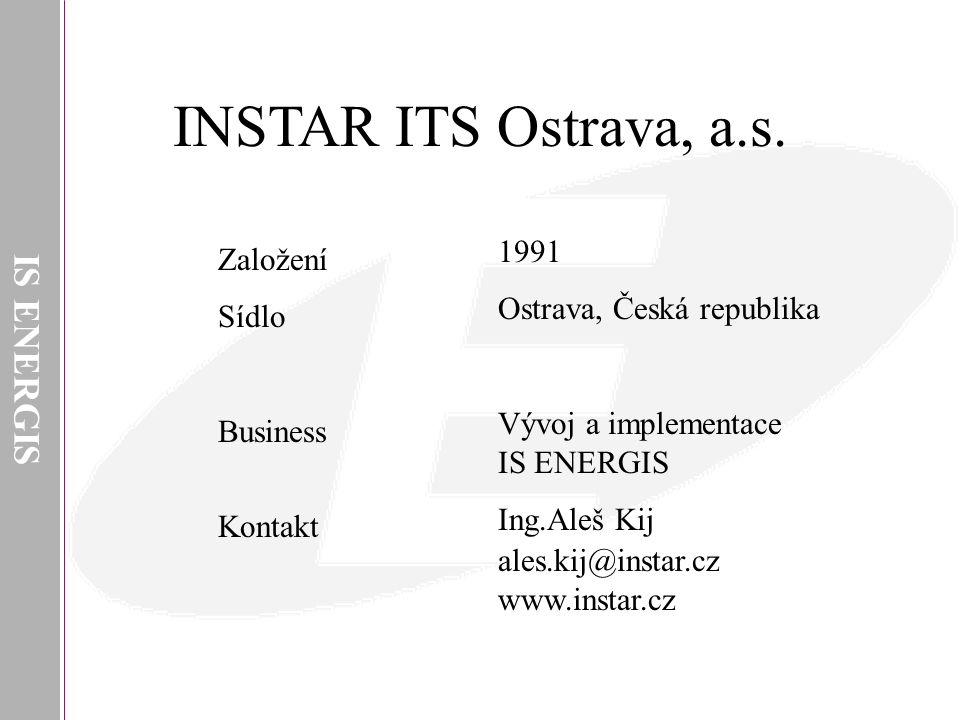 INSTAR ITS Ostrava, a.s. IS ENERGIS 1991 Založení
