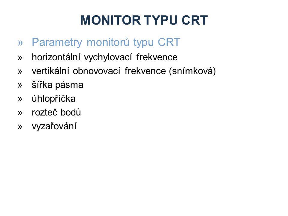 Monitor typu CRT Parametry monitorů typu CRT