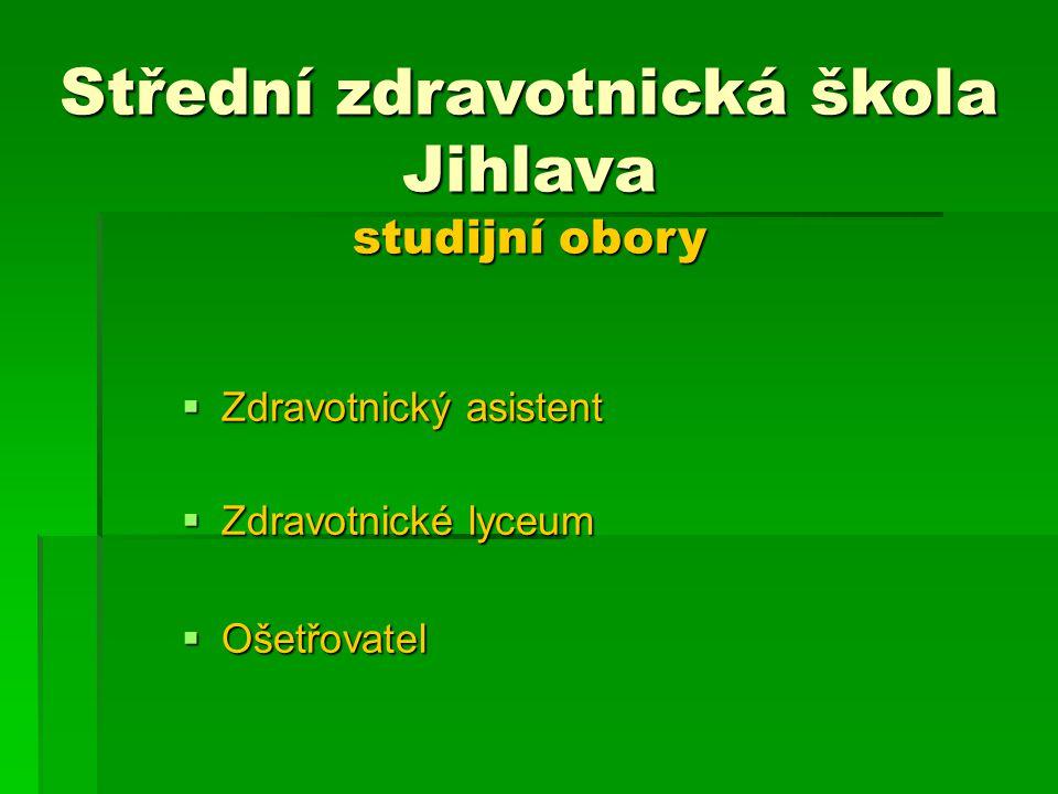 Střední zdravotnická škola Jihlava studijní obory