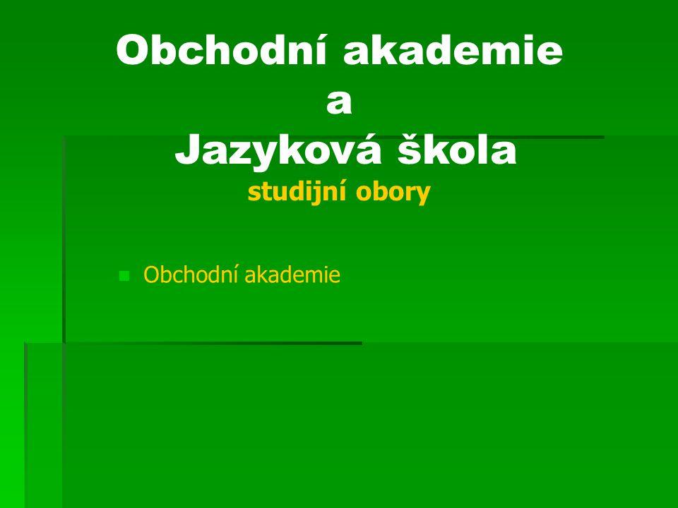 Jazyková škola studijní obory