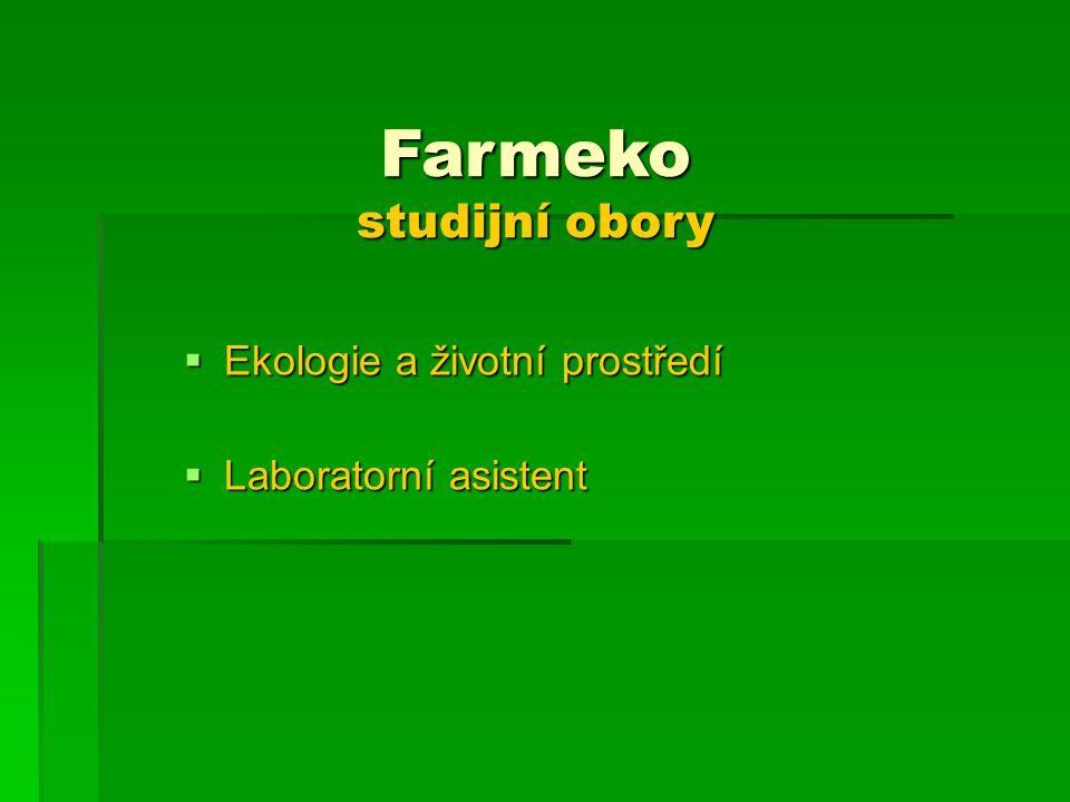 Farmeko studijní obory