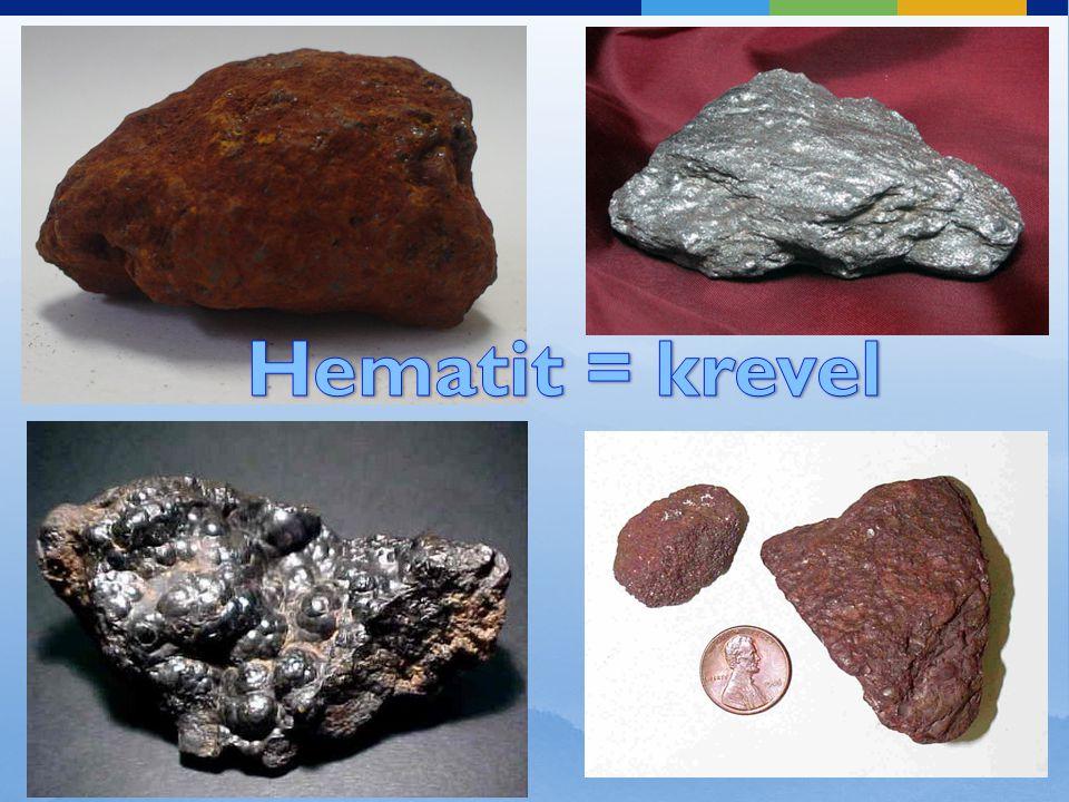 Hematit = krevel