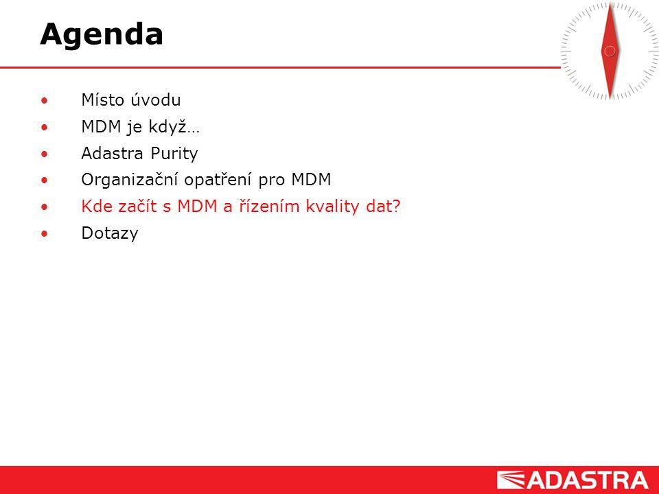 Agenda Místo úvodu MDM je když… Adastra Purity
