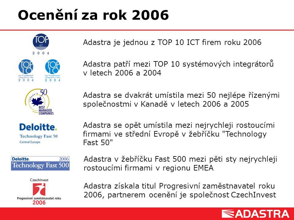 Ocenění za rok 2006 Adastra je jednou z TOP 10 ICT firem roku 2006