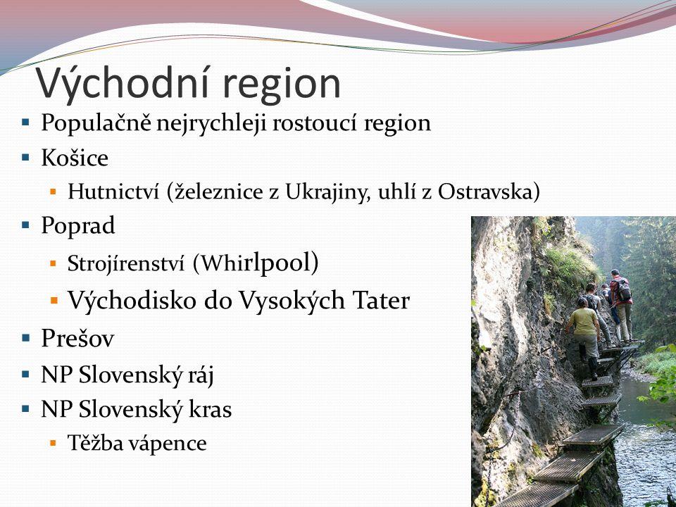 Východní region Východisko do Vysokých Tater Prešov