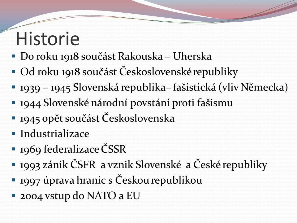 Historie Do roku 1918 součást Rakouska – Uherska