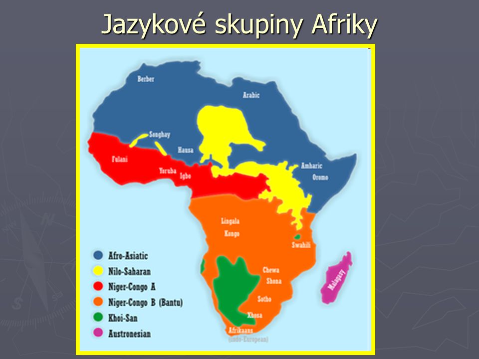 Jazykové skupiny Afriky