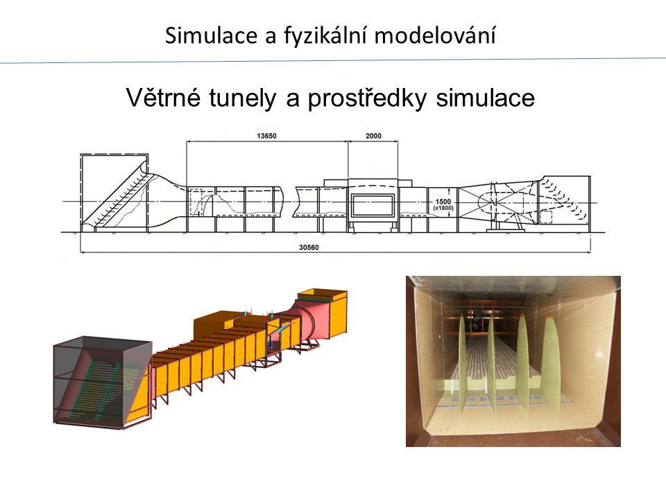 Větrné tunely a prostředky simulace