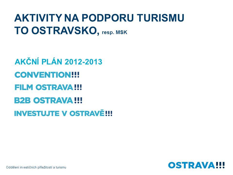 AKTIVITY NA PODPORU TURISMU TO OSTRAVSKO, resp. MSK