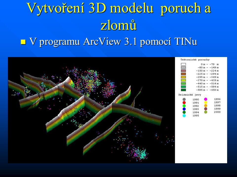 Vytvoření 3D modelu poruch a zlomů