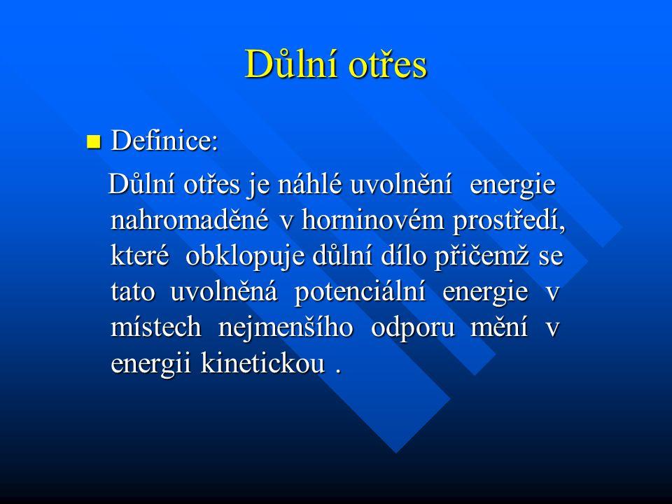 Důlní otřes Definice: