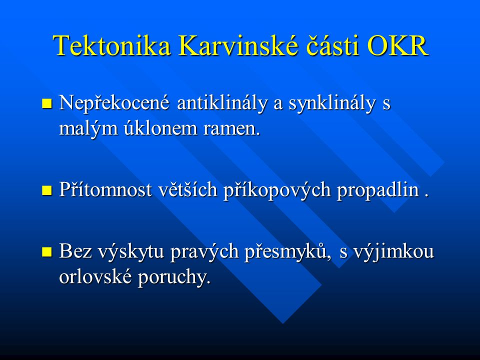 Tektonika Karvinské části OKR