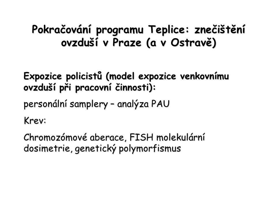 Pokračování programu Teplice: znečištění ovzduší v Praze (a v Ostravě)