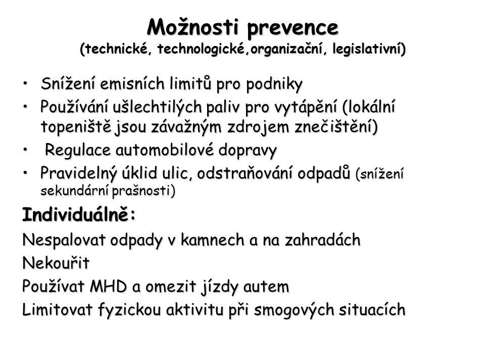 Možnosti prevence (technické, technologické,organizační, legislativní)