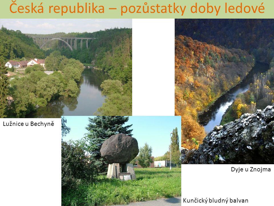 Česká republika – pozůstatky doby ledové