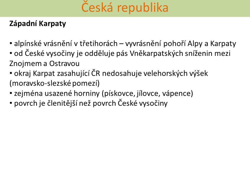 Česká republika Západní Karpaty