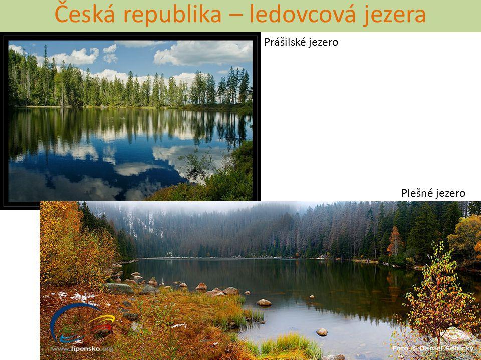 Česká republika – ledovcová jezera