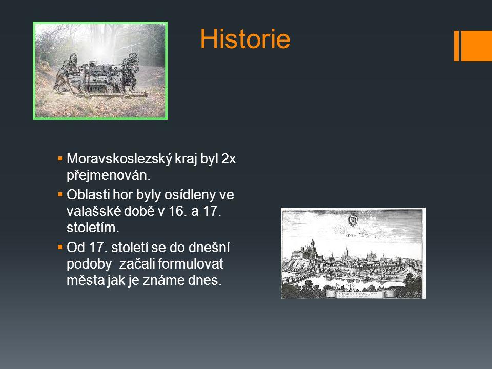 Historie Moravskoslezský kraj byl 2x přejmenován.