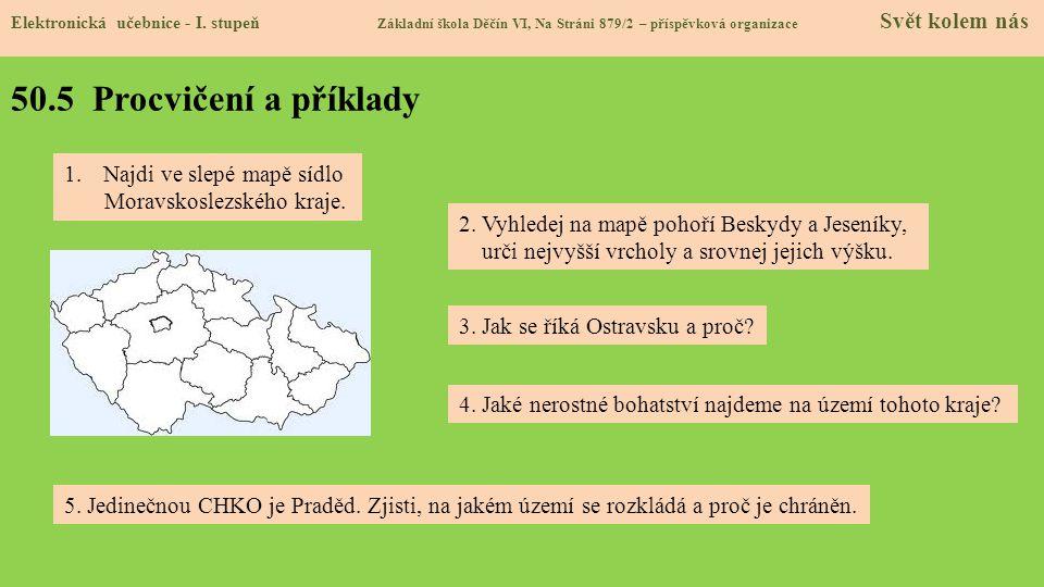 50.5 Procvičení a příklady Najdi ve slepé mapě sídlo
