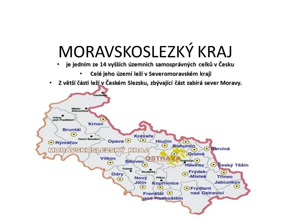 MORAVSKOSLEZKÝ KRAJ je jedním ze 14 vyšších územních samosprávných celků v Česku. Celé jeho území leží v Severomoravském kraji.