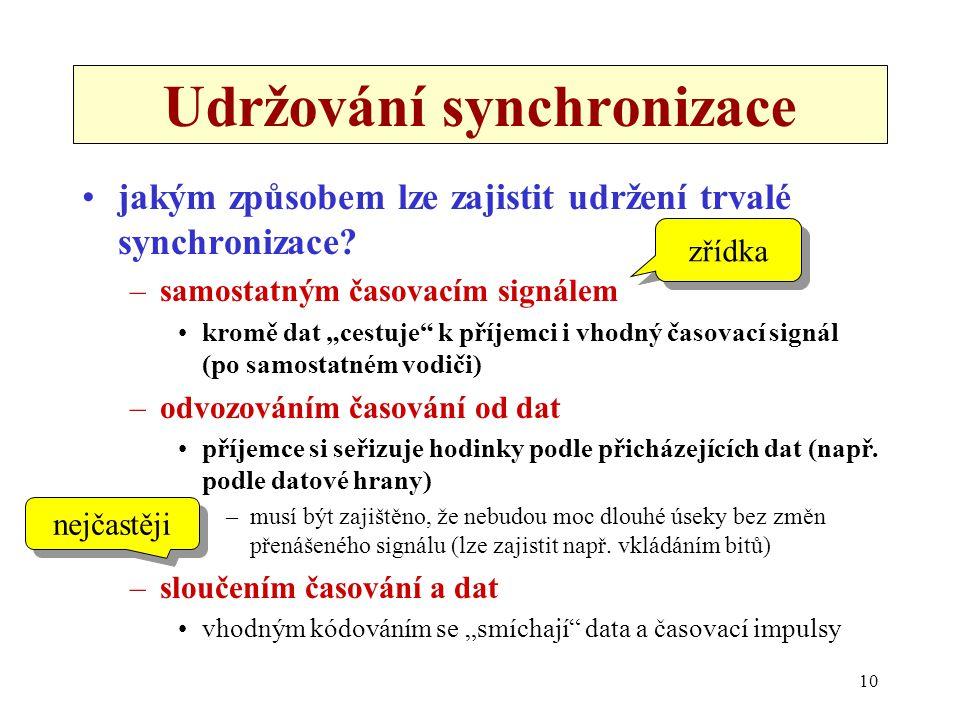 Udržování synchronizace