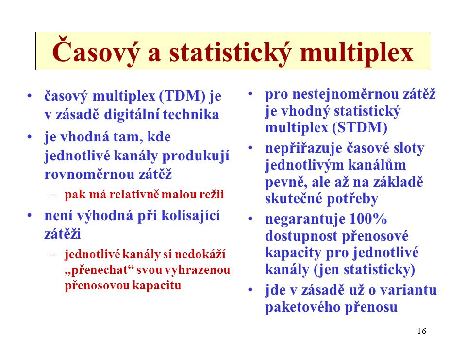 Časový a statistický multiplex