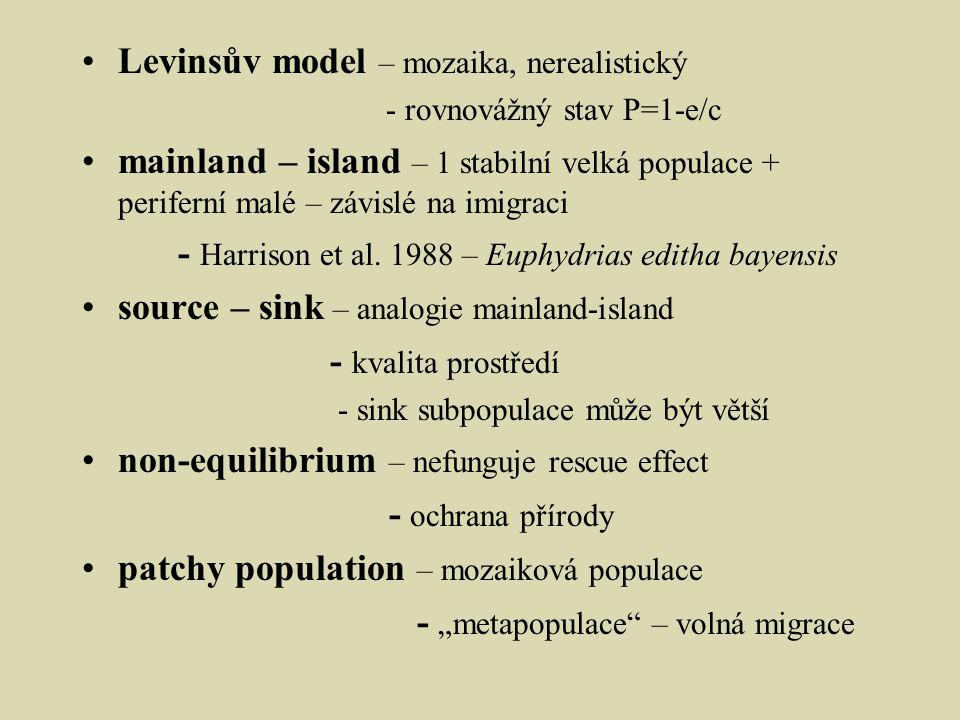 Levinsův model – mozaika, nerealistický