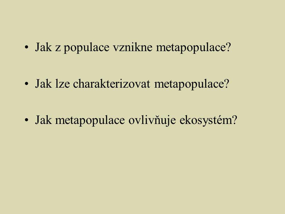 Jak z populace vznikne metapopulace