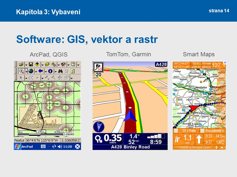 Software: GIS, vektor a rastr