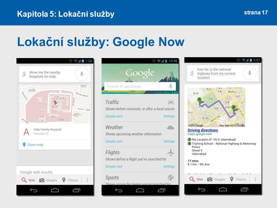 Lokační služby: Google Now