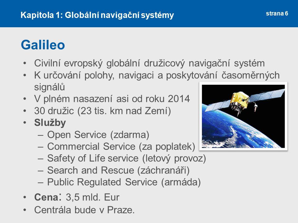 Galileo Civilní evropský globální družicový navigační systém