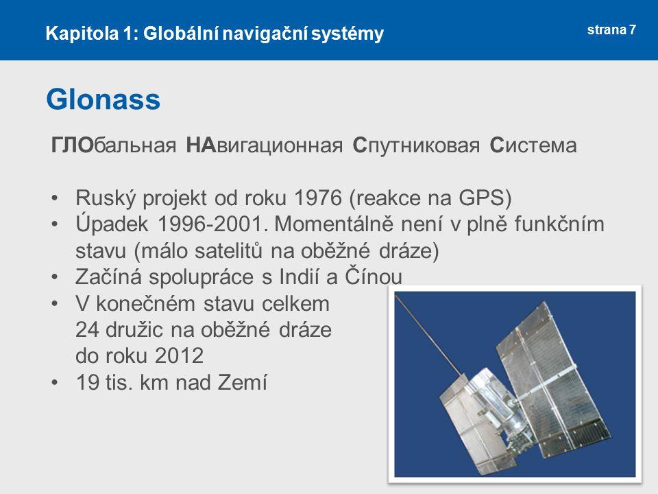 Glonass ГЛОбальная НАвигационная Спутниковая Система