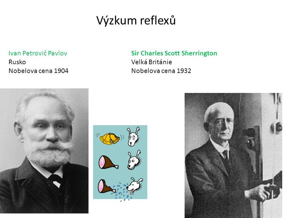 Výzkum reflexů Ivan Petrovič Pavlov Rusko Nobelova cena 1904