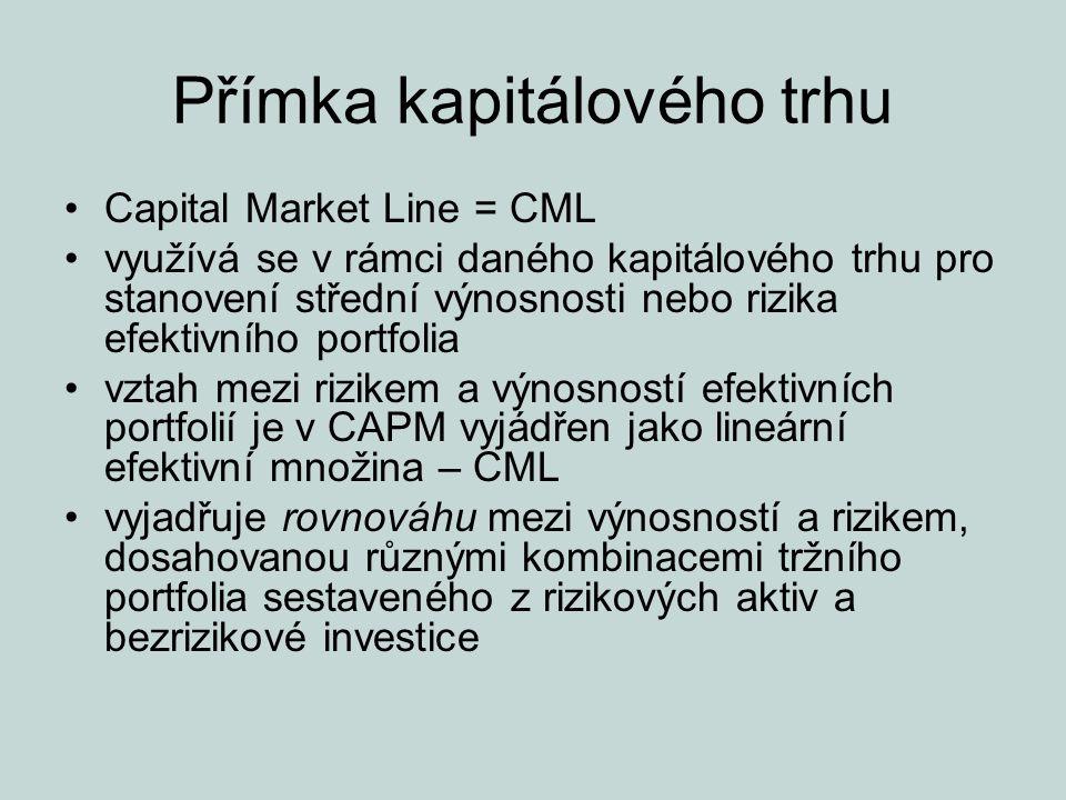 Přímka kapitálového trhu