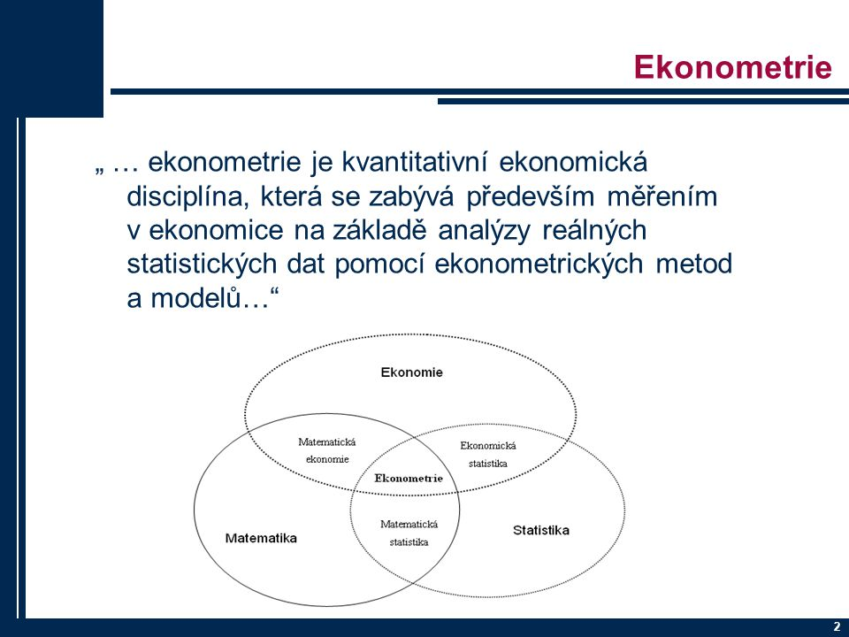Ekonometrie