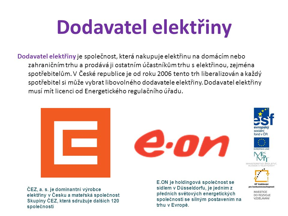 Dodavatel elektřiny