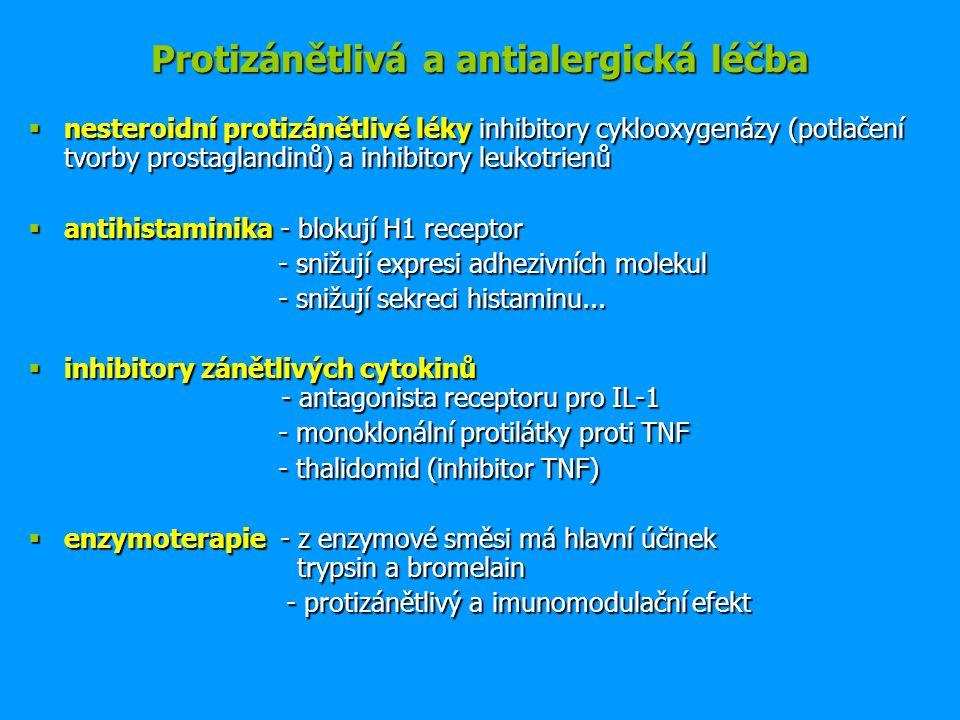 Protizánětlivá a antialergická léčba