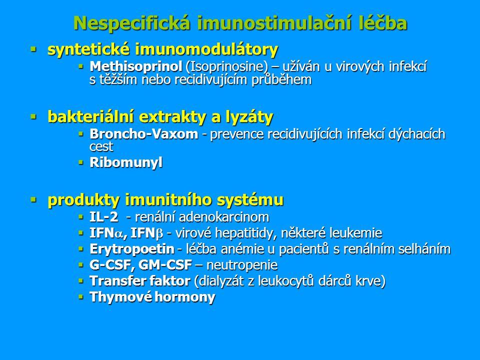 Nespecifická imunostimulační léčba
