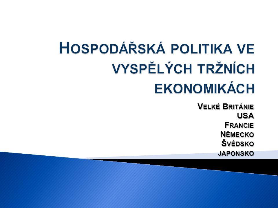 Hospodářská politika ve vyspělých tržních ekonomikách