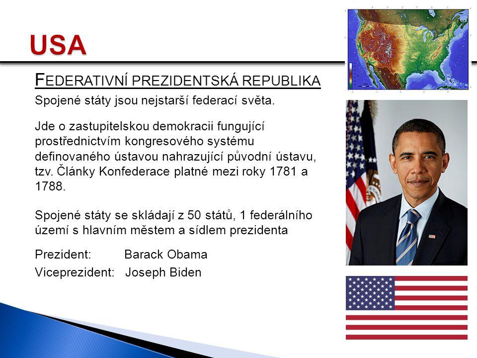 USA Federativní prezidentská republika