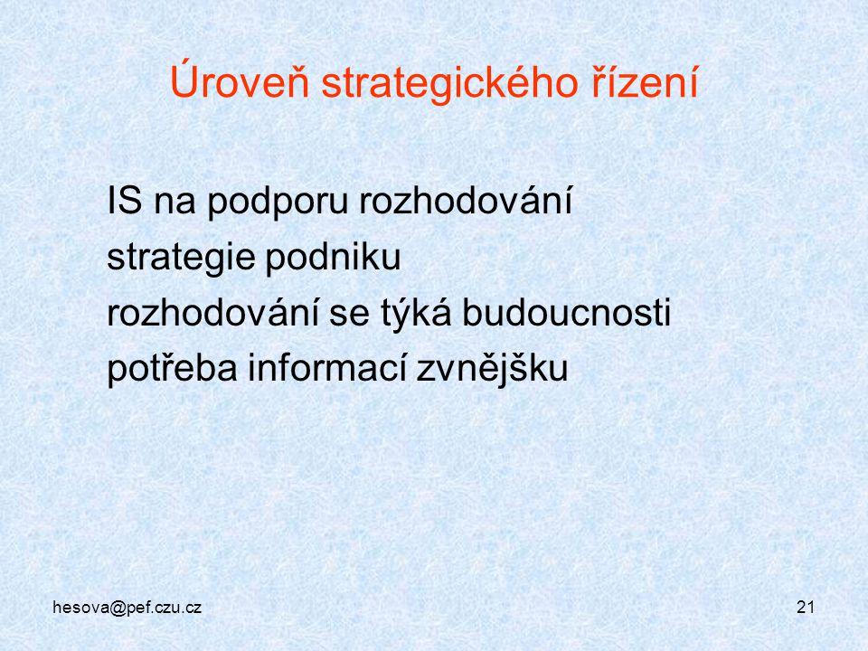 Úroveň strategického řízení