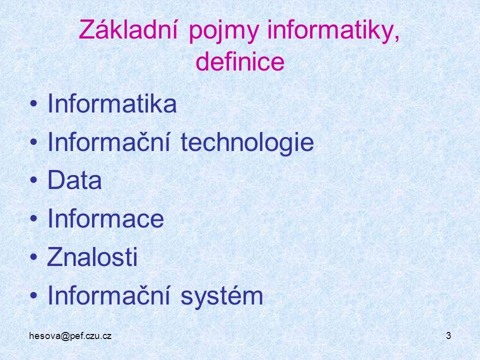 Základní pojmy informatiky, definice